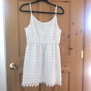 H&M white lace detail summer tank dress